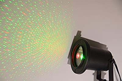 RED and Green 2 Color Laser Landscape Projector Light w/ Remote. Holiday Lighting, Christmas Lights