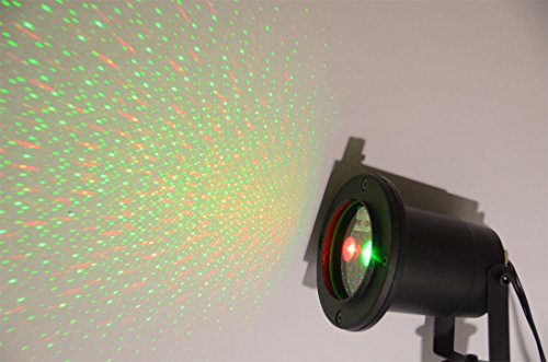 KLAREN® RED and Green 2 Color Laser Landscape Projector Light w/ Remote. Holiday Lighting, Christmas Lights