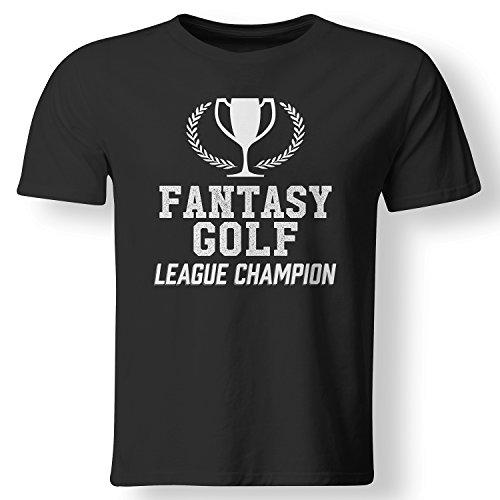 Fantasy Golf League Champion Trophy Winner T Shirt Black X-Large ()