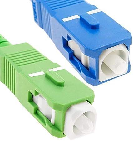 10M Jarreti/ère Optique Compatible avec Freebox Free Elfcam C/âble /à Fibre Optique SC//APC /á SC//UPC Monomode avec 25 Pi/èces Clips de C/âble Adh/ésif