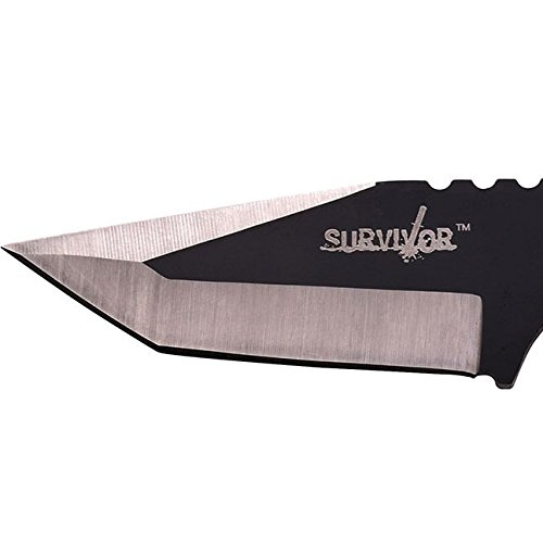 Survivor-HK-106320-Series-Fixed-Blade-Outdoor-Knife-Tanto-Blade-Cord-Wrapped-Handle-7-Inch-Overall