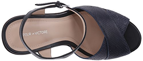 Dress La Platform Sandal Women's leather navy Pour Dakota Victoire qBdzCXw
