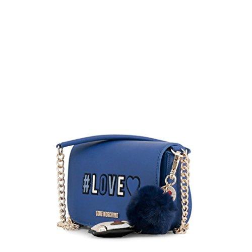 Love Moschino Borsa Pu, Borse a spalla Donna Blu