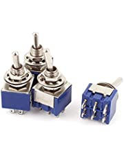 uxcell A15062200ux0651 2 Position 6Pins DPDT ON-Off Micro Mini Toggle Switch AC 6 Amp 125V 4 Piece