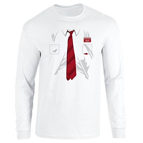 Cornetto Trilogy Costume (You've Got Red On You Costume White 2XL Long Sleeve T-Shirt by Pop Threads)