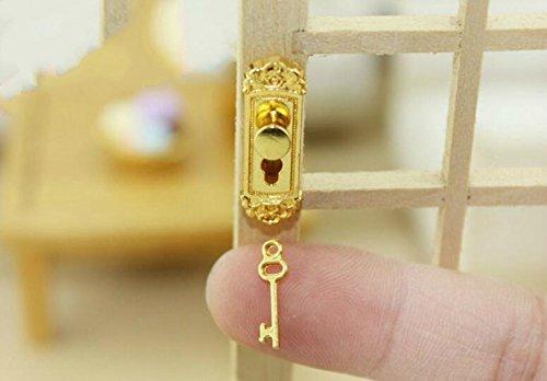 Udane Decoraciones Accesorios de Casa de Muñecas Accesorios de casa de muñecas Mini Cerradura de Puerta de Alto Grado