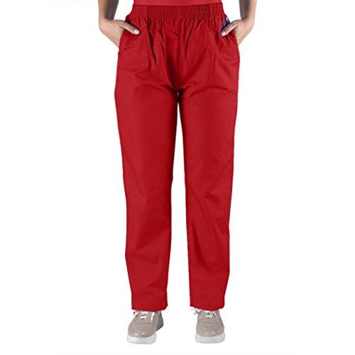 98.6 Nurse Scrubs Men & Women: Unisex Medical Nursing Pants L Red -