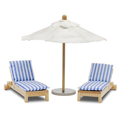 Melody LUNDBY Stockholm Sunbeds Plus Parasol Playset