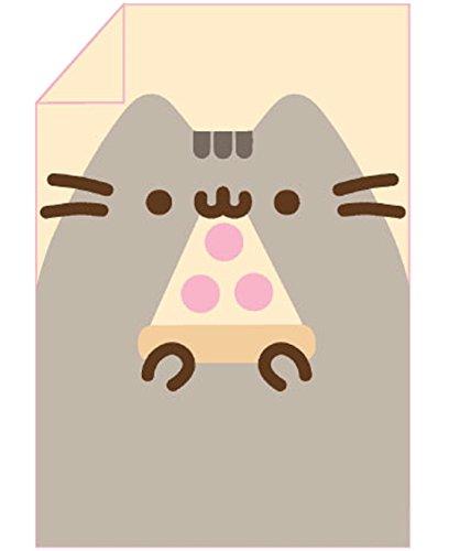 Pusheen Eating Pizza Throw Blanket