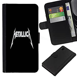 All Phone Most Case / Oferta Especial Cáscara Funda de cuero Monedero Cubierta de proteccion Caso / Wallet Case for Sony Xperia Z1 L39 // METALLIC A