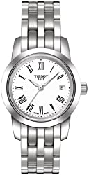 Tissot Classic Dream White Dial SS Link Quartz Ladies Watch T0332101101300