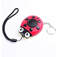 iDaye 130DB human SOS with siren song voice Ladybug Emergency Personal alarm keychain/the Wolf Alarm/kids Tracker,/Protection Device with colorful flash work for joggers,elderly,owls,woman ,adults.