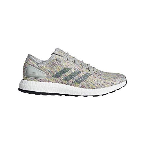 adidas Pureboost SIL/Grn/YEL Running Shoes 10.5