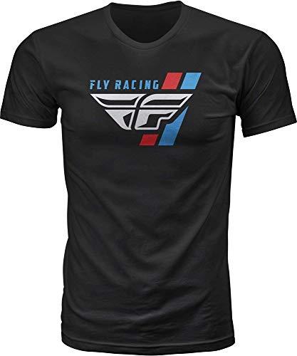 Fly Racing Retro Stripe TEE Black MD 352-1140M