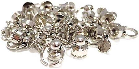 [해외]크 라프 트 라이프 밤나무 캉 드롭 핸들 스크류 9mm 20 개 세트 4 색상 보유 (실버) / Craft Life Tochican Drop Handle Screw Type 9mm 20 pieces Set 4 Colors (Silver)