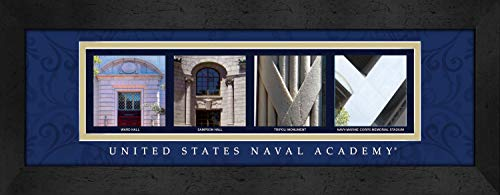 Prints Charming Letter Art Framed Print, Us Naval Academy-Navy, Bold Color Border