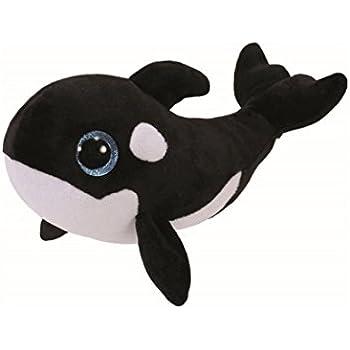 212961049ef Amazon.com  Ty 36893 - Beanie Boos Nona The Whale 15cm  Toys   Games