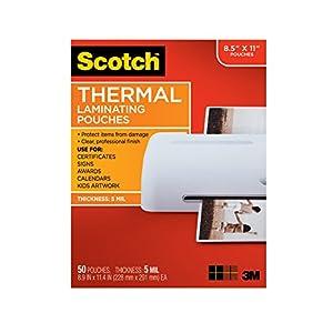 Scotch TP5854-50 50pieza(s) - Plastificador (Transparente, Térmico, 0,127 mm, 226,1 mm, 292,1 mm, 50 pieza(s))