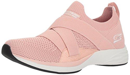 Skechers BOBS Women's Clique Sneaker, pnk, 8.5 M US