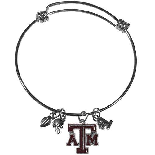 - Siskiyou NCAA Texas A&M Aggies Charm Bangle Bracelet