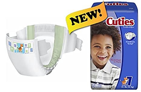 First Quality Cuties Diapers, Size 7, 41+ lbs. - Pack of 20