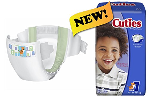 First Quality Cuties Diapers, Size 7, 41+ lbs. - Case of 80