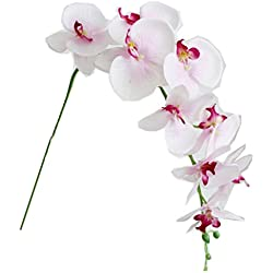 1 x Artificial Butterfly Orchid Flower Plant Home Decor Fuchsia (2pcs, pink)