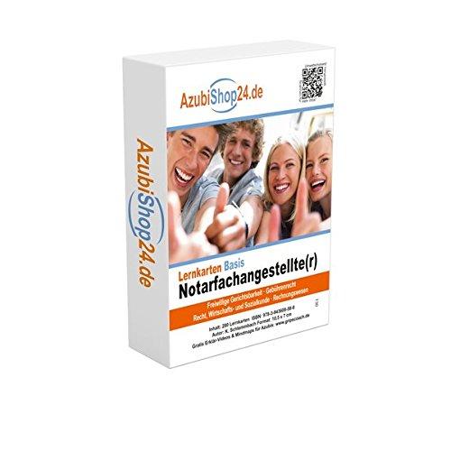 AzubiShop24.de Basis-Lernkarten Notarfachangestellte/r: Erfolgreiche Prüfungsvorbereitung auf die Abschlussprüfung Taschenbuch – 1. April 2015 Kurt Schlemmbach Princoso 3943608581 Berufsschulbücher