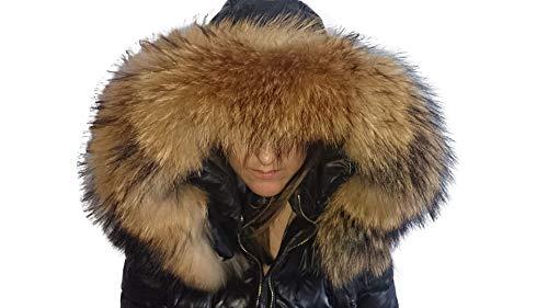 Real Raccoon Fur collar for hood. Genuine Raccoon fur trim for hood. (70 cm)