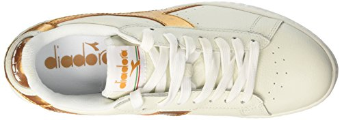 Oro Game Sneaker a Basso Collo Diadora Bianco Uomo Bianco Metallic ZnOW1SxSz