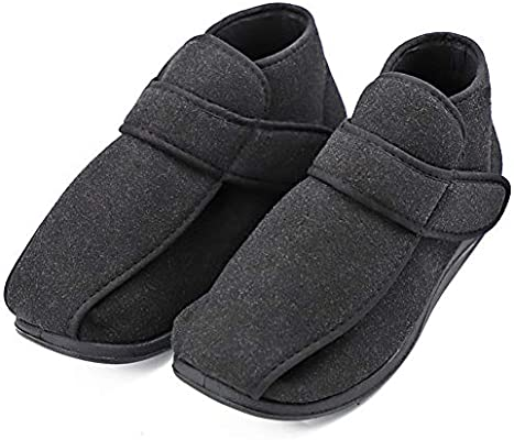 Womens Diabetic Shoes Swollen Foot Diabetes Slipper Edema Boots Adjustable Roomy Therapeutic Footwear for Elderly Mother Wife