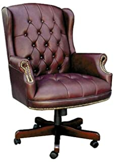 luxury leather office chair. chairman classic swivel armchair faced in soft burgundy or green leather luxury office chair r