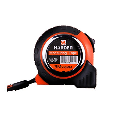 Tape Measure,Lightdot Hardware,Retractable Metric Measuring Tape 10ft (3m) with Wrist Strap, Black And Orange (Attached With A Pair Of Gloves)