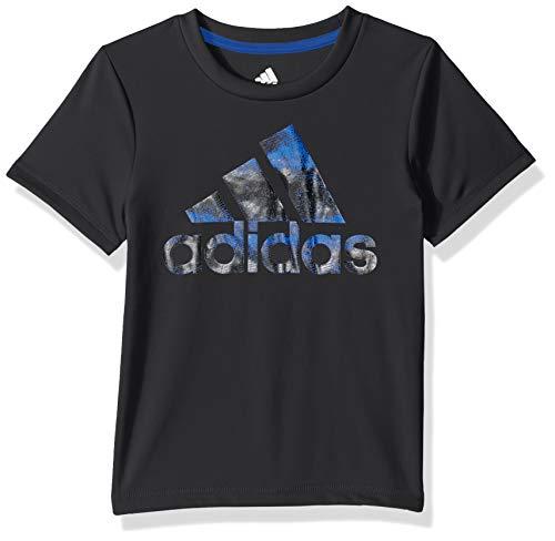 Adidas Boys' Toddler Short Sleeve Logo Tee Shirt, Fusion ADI Black, 2T