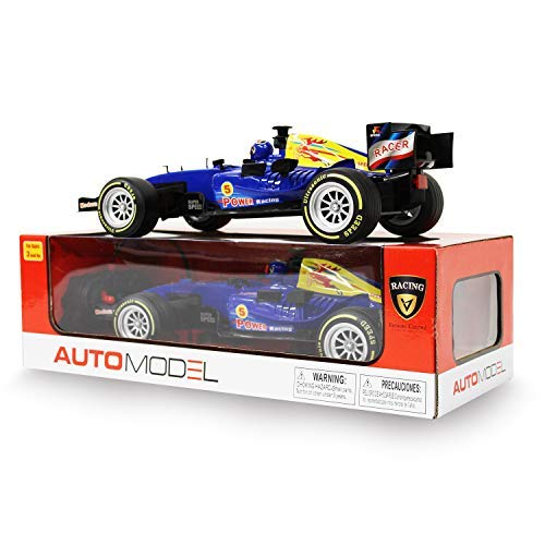 (F1 Champion Ultrasonic Speed Model 27mhz Modern Car, Remote Control Racing Car with Fast Acceleration Forward Reverse Gearbox, Left/Right Turning, Doing Donuts in 360° for Boy 3 Years Plus (Blue))