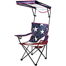 Quik Shade Adjustable Canopy Folding Camp Chair - American Flag Pattern