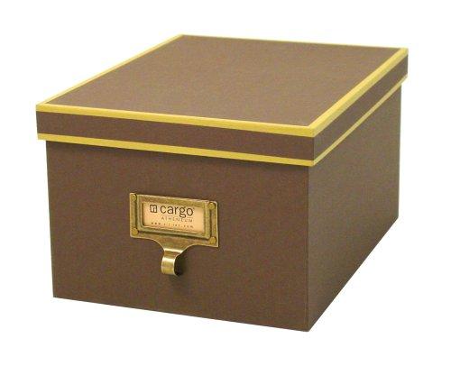 cargo Atheneum Photo/Supply Box, Brown, Set of (Cargo Office Box Set)