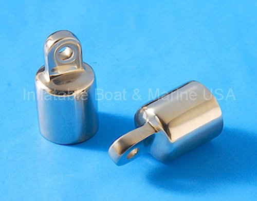 Bimini Top Eye End Cap Fitting / Hardware- 1''' 316 Marine Stainless Steel - 2 Each (Pair) by Inflatable Boat & Marine USA