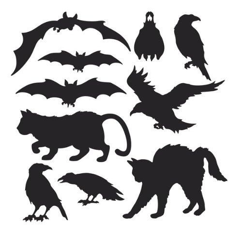 Halloween Silhouettes 10pk (Silhouette Of Halloween Cat)
