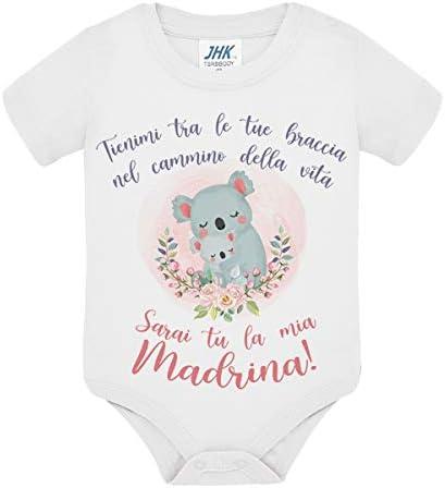 Body Bimba e Bimbo Tienimi tra Le tue Braccia nel cammino della Vita Baby Koala Idea Regalo Nascita e Battesimo! Sarai tu la mia Madrina
