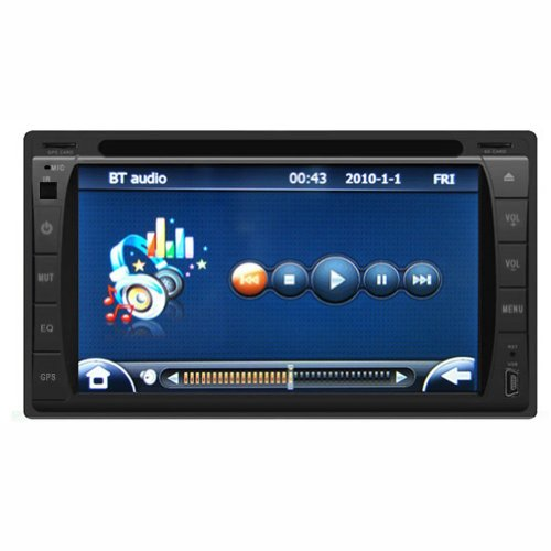"Sohang 2-din Stereo Radio DVD Player with HD 6.2"" LCD touch screen,Built-In Bluetooth, GPS Satellite Navigation, Real Time Voice Navigation, Built-In USB Port/SD Slot"