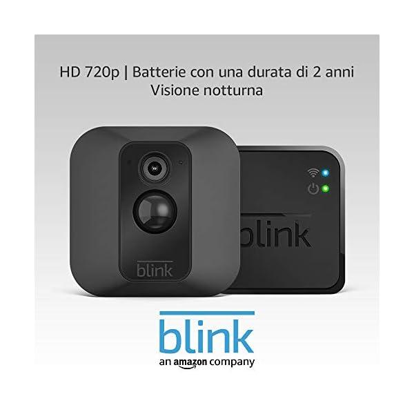 Sistema di telecamere per la sicurezza domestica Blink XT, per esterni, con rilevatore di movimento, video in HD… 1 spesavip