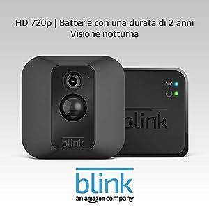 Sistema di telecamere per la sicurezza domestica Blink XT, per esterni, con rilevatore di movimento, video in HD, batterie con una durata di 2 anni e archiviazione sul cloud - Sistema a 1 telecamera