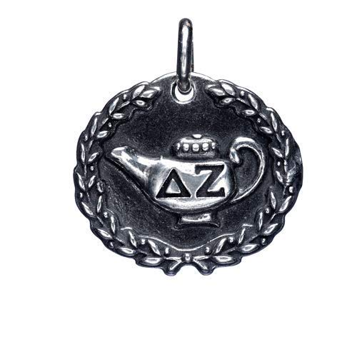 Delta Zeta Dangle Charm.925 solid sterling silver, Charm, Spacer, Greek, Sorority, Sisterhood, Handcrafted, Made in the USA, For Bracelet, For Necklace