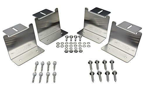 Temco 2 Qty NEW Solar Panel Mounting Z Bracket Stainless Steel Kit Mount Set Roof RV (with Wood Screws) by Temco