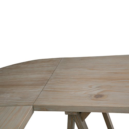 Simpli Home Sawhorse Solid Wood L-Shape Corner Desk, Distressed Grey by Simpli Home (Image #4)