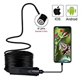 Leegoal USB Endoscope Borescope Snake Camera 5.5mm Inspection Camera 2.0 MP CMOS 1080P HD Waterproof with 6 Led and 5M Snake Cable USB Adapter for Android/iOS /Windows/Mac
