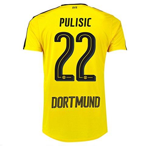 Puma Pulisic #22 Borussia Dortmund Home Soccer Jersey 2016/17 – DiZiSports Store