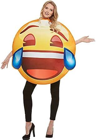 Funidelia Disfraz de Emoji Sonriente con lágrimas: Amazon.es ...