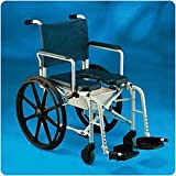 Invacare Rehab Shower/Commode Chair. 18''W x 18''D x 39''H (46 x46x 99cm) Wide Seat - Model 557670